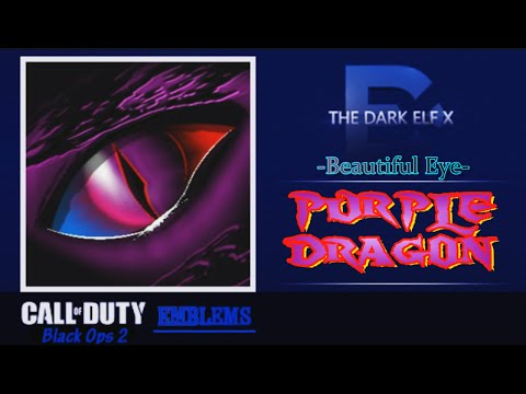 Black Ops 2 Emblem - Beautiful Eye ( Purple Dragon )