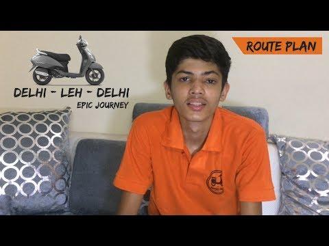 ROUTE PLAN | LADAKH | TVS JUPITER