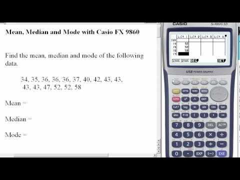 Mean, Median & Mode on Casion FX9860