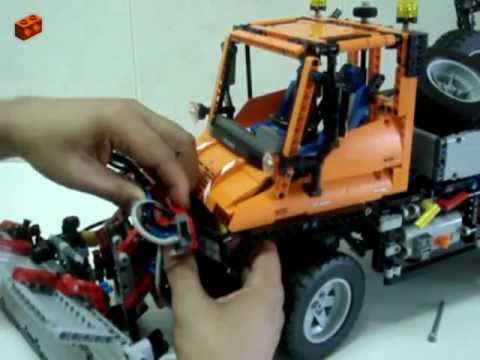 LEGO Technic 8110, Unimog U400 Review (7/7 - The B-model, Snow Plow)