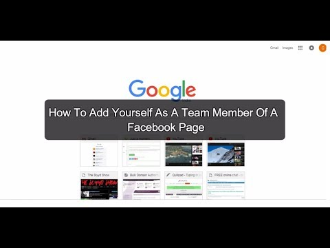 How to add yourself as a team member of a Facebook page