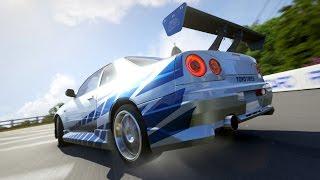 Forza 6 | Paul Walker's 2 Fast 2 Furious Nissan Skyline R34 Gameplay & Showcase [1080p 60FPS]