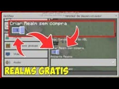 COMO FAZER UM REALMS DE GRAÇA NO MINECRAFT POCKET EDITION 1.1.3.1