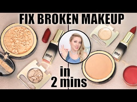 How to FIX broken makeup in 2 mins: eyeshadows, powder, lipstick! Life-changing makeup hack: