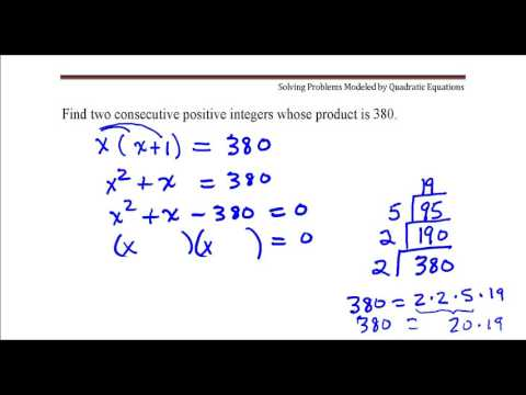 Find two consecutive positive integers whose product is 380.