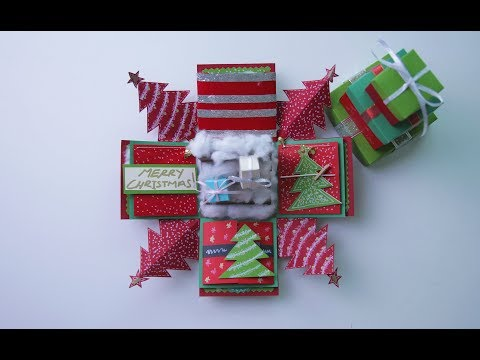CHRISTMAS EXPLODING BOX FULL TUTORIAL PART 2 (2017) + GIVEAWAY!!!!
