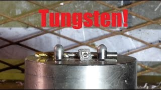 Can you crush tungsten bit with hydraulic press?