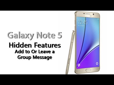 Galaxy Note 5 - Hidden Feature - Add to or Leave a Group Message