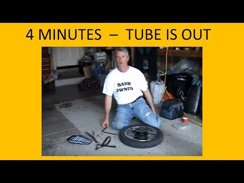 MOTORCYCLE TIRE REPAIR - SAVING YOUR KNUCKLES by Carl Quakenbush