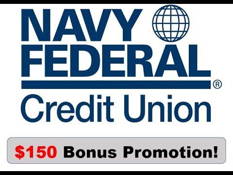 Navy Federal Credit Union Checking Promotion: $150 Bonus