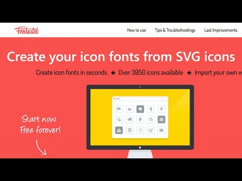 Create Icon Fonts from SVG icons