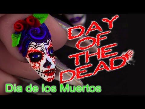 Day of the Dead - Sugar Skulls Nail Art Tutorial