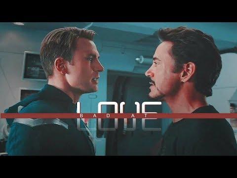 Steve + Tony - Bad at love