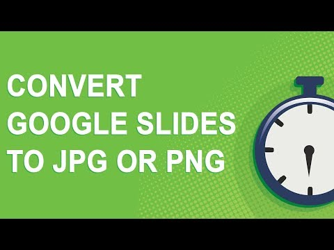Convert Google Slides to JPG or PNG (2018)