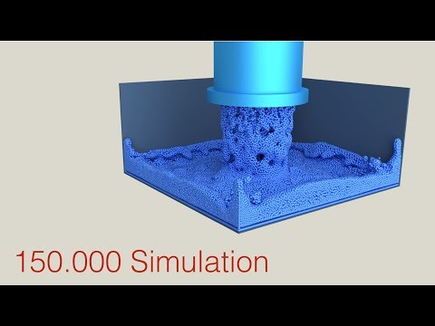 150.000 Fluid Particles Simulation, Tutorial Preview