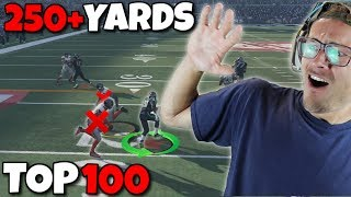BARRY SANDERS GOES OVER 250 YARDS vs TOP 100 PLAYER!! Madden RTE