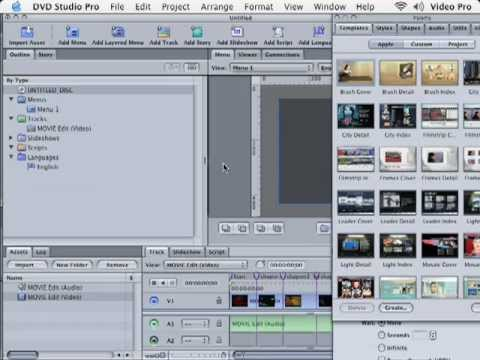 DVD Studio Pro Tutorial | 101 | Simple DVD with Chapters | Part 2
