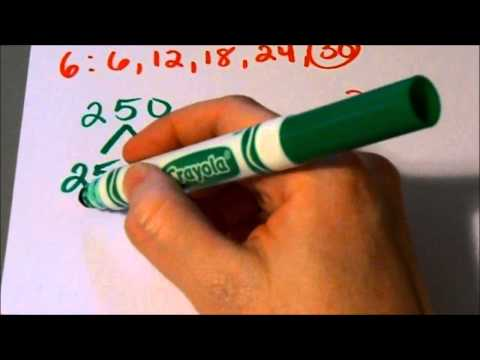 How to find the LCM or Lowest Common Multiple (5th grade and up)