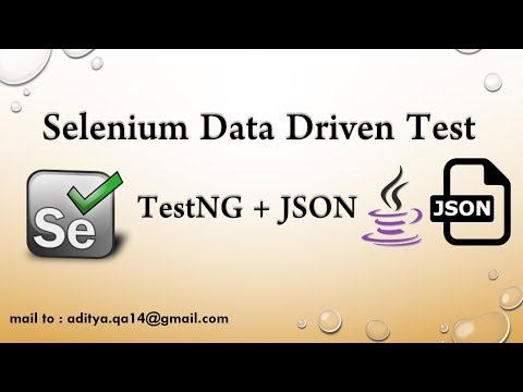 Data Driven Testing using JSON in Selenium WebDriver