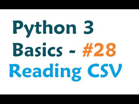 Python 3 Programming Tutorial - Reading from a CSV spreadsheet