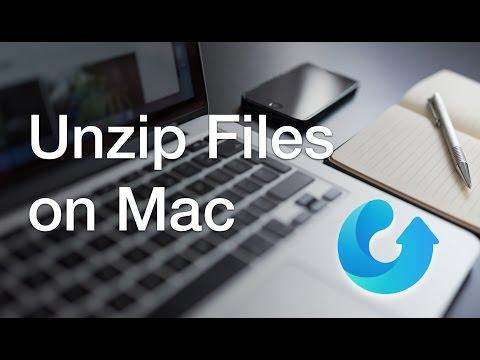 Tutorial: How to unzip files on macOS 2016 [.rar/.zip/RAR/.7z/.gz]