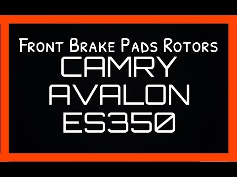 Front Brake Pads & Rotors Toyota Camry Lexus ES350 Toyota Avalon