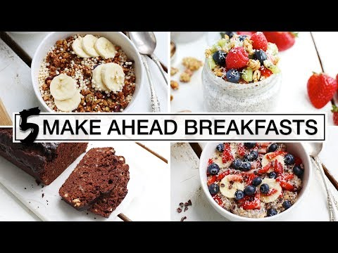5 Healthy Make-Ahead Breakfasts | EASY + VEGAN