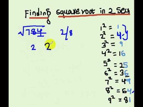 Square root in secs!!! Telugu