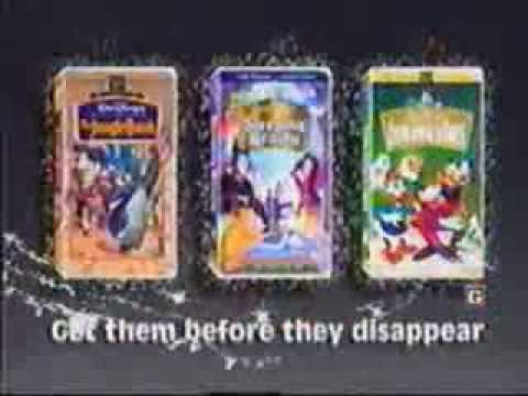 Moratorium announcement for three classic Disney films on VHS