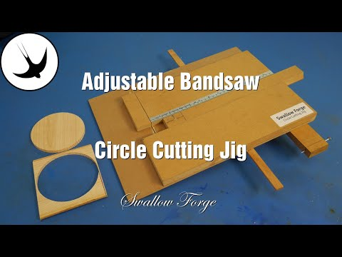 Simple Adjustable Bandsaw Circle Cutting Jig: Swallow Forge