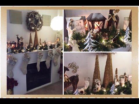Christmas Fireplace Tour | 2016