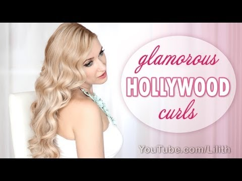 Hollywood curls tutorial. Hairstyle for New Year's eve party
