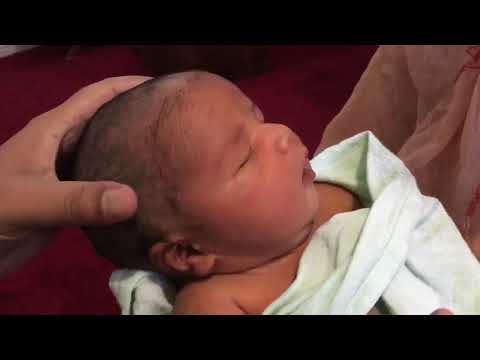 How to cut/shave baby hair- Zavian Yusuf has his first hair cut - sunnah in islam seventh day