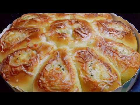 CHEESE BREAD | Scallions Cheese Soft Bread Recipe