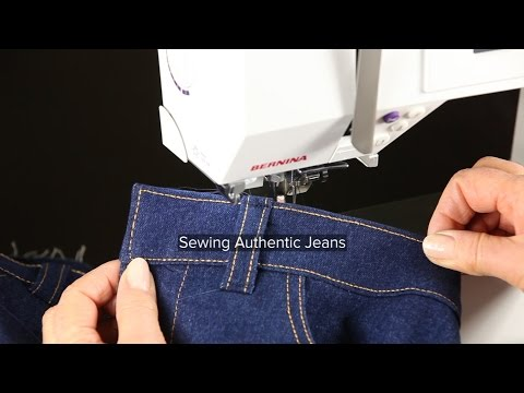 Sewing Jeans Part 13, Sewing Jeans, Topstitching the Waistband