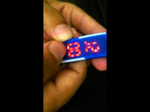 Blue Rubber Digital Watch - How to Set Time - Review
