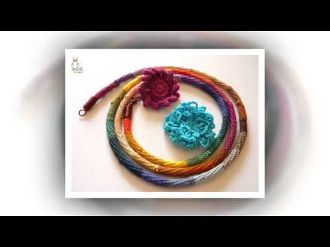 how to crochet a necklace with ribbon yarn