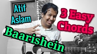 Barishein - Atif Aslam Easy Guitar Lesson | 4 Easy Chords | Guitar Tutorial | Mj Entertainment
