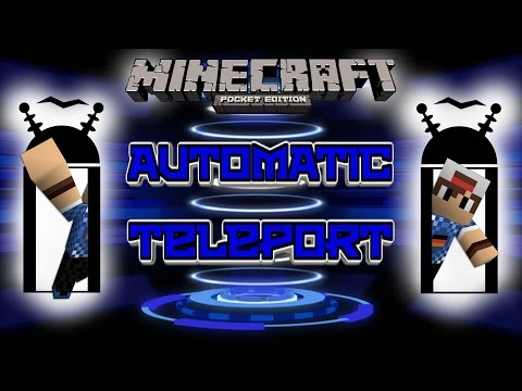 MCPE :: Automatic Teleport with Command Blocks :: Minecraft Pocket Edition 1.0.5