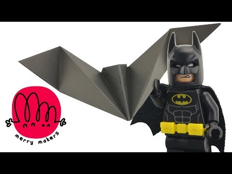 LEGO Batman! How to make a Bat with Paper Origami for Kids with LEGO Batman and Joker