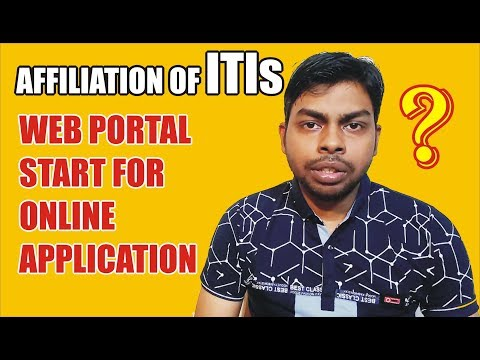 When will Start online applications on Web portal Affiliation of ITI's from the session 2018?
