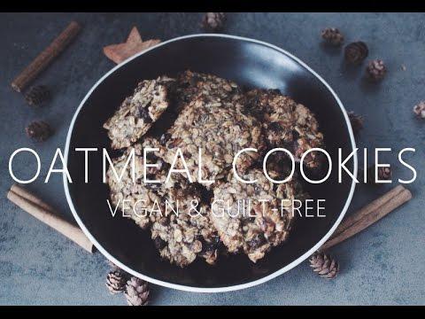 Vegan & Guilt-Free Oatmeal Cookies