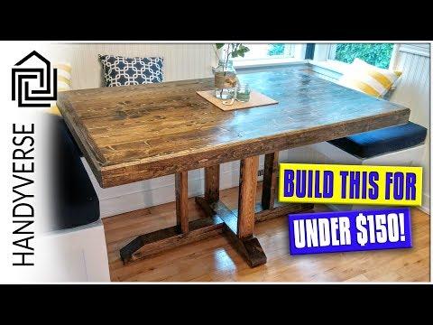 DIY Farmhouse Table for $150!!! : EP 023