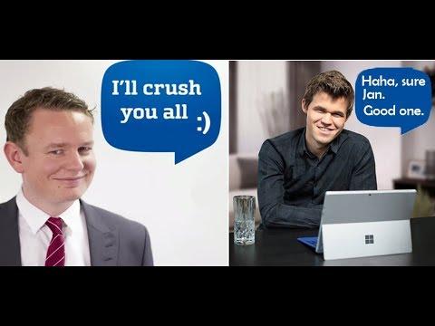 MAGNUS CARLSEN secretly CRUSHES Jan Gustafsson in his live stream
