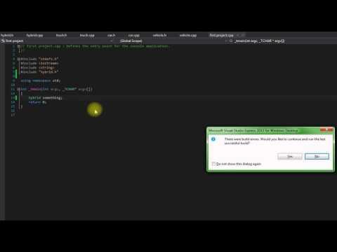 Beginners C++ tutorial 20 (multiple inheritance coding)