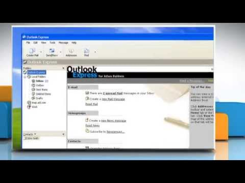 How to set up Outlook Express on Windows® XP-based PC