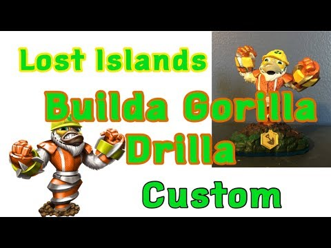 Skylanders Lost Islands Custom Builda Gorilla Drilla