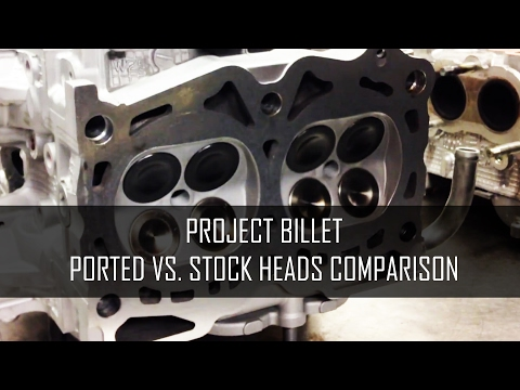 Project Billet - Ported VS. Stock Subaru EJ Heads - Benefits and Comparison