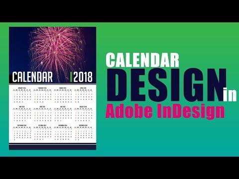 2018 calendar | How to design calendar in adobe inDesign