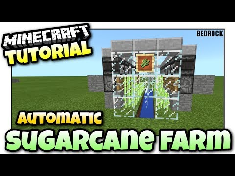 Minecraft - AUTOMATIC SUGARCANE FARM [ Redstone Tutorial ] Bedrock MCPE / Xbox One / Windows 10